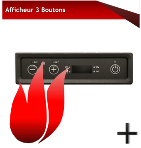 AFFICHEUR 3 BOUTONS MICRO