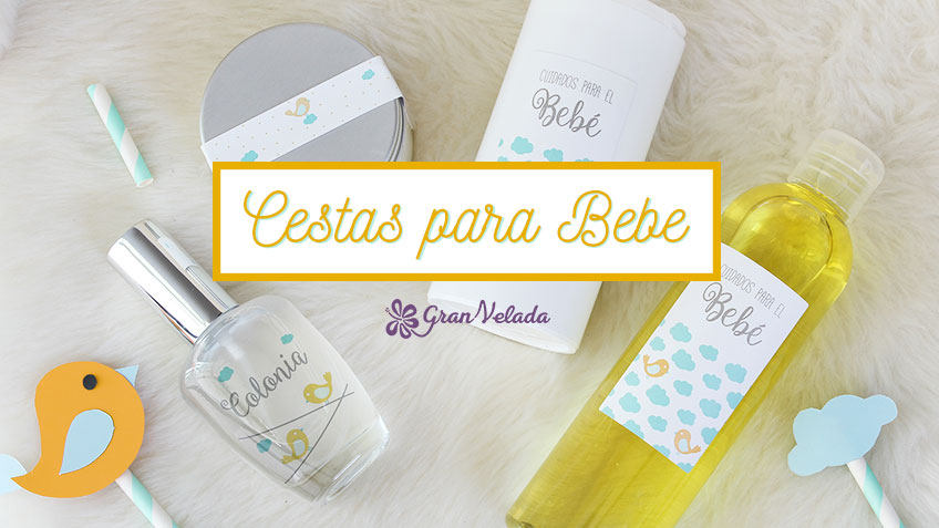 Cestas para bebes hechas a mano y personalizadas
