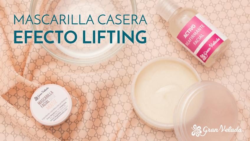 Mascarilla casera efecto lifting