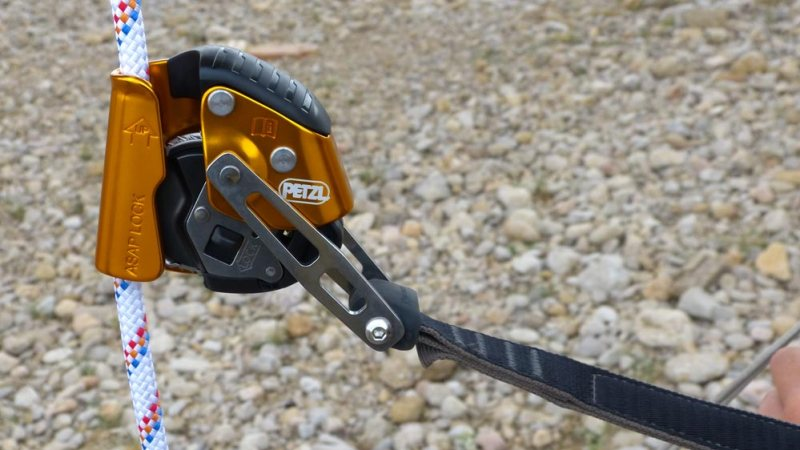 Anticaídas ASAP Lock sobre cuerda