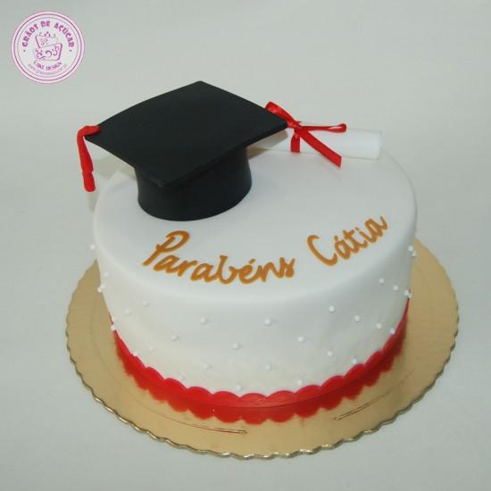 Finalista  Chapu e Diploma  Gros de Acar  Bolos decorados  Cake Design