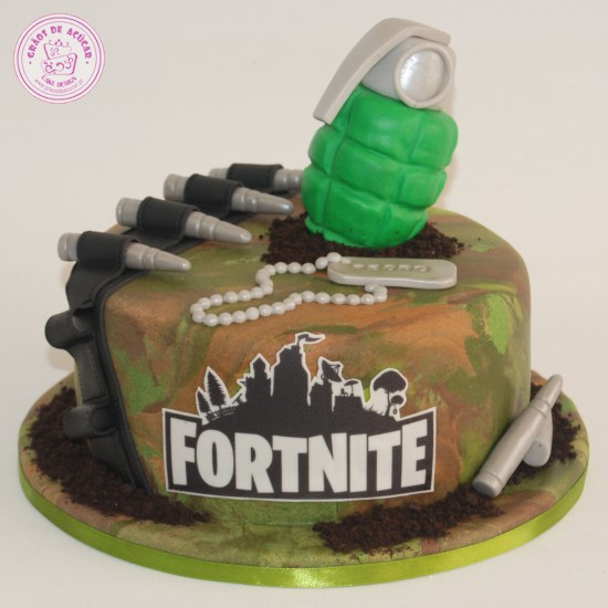 Fortnite  Gros de Acar  Bolos decorados  Cake Design
