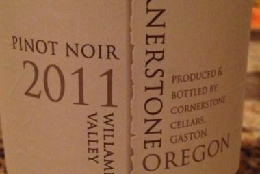 Cornerstone Oregon Pinot Noir 2011