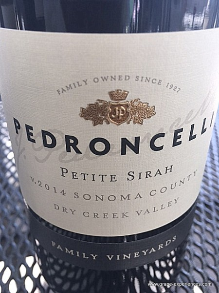 Pedroncelli Petite Sirah - www.grape-experiences.com