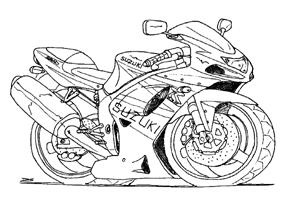 Dessin Moto Suzuki