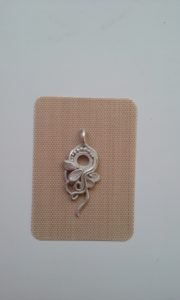 post fired sterling silver pendant