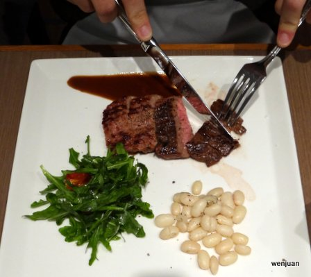 F by Tribute provided a meal for each judge, with three main options, including this skirt steak.