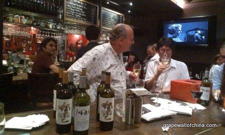 1421 wine tasting at scarlett wine bar hotel g beijing china with randy svendsen