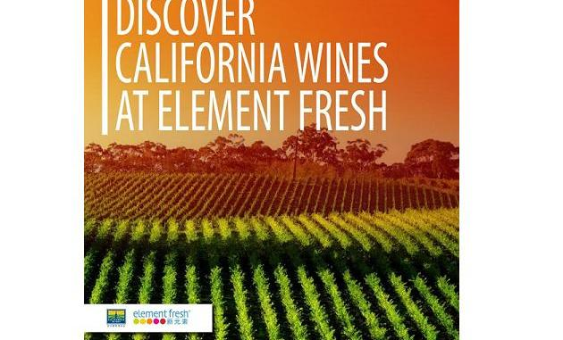 Element Fresh California wine promotion image