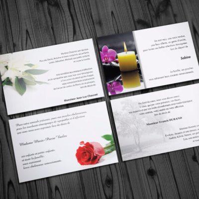 Cartes de condoléances - décès