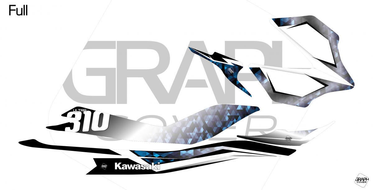 GRAPHIC KIT JET SKI MASAÏ KAWASAKI ULTRA 310 WHITE/BLUE