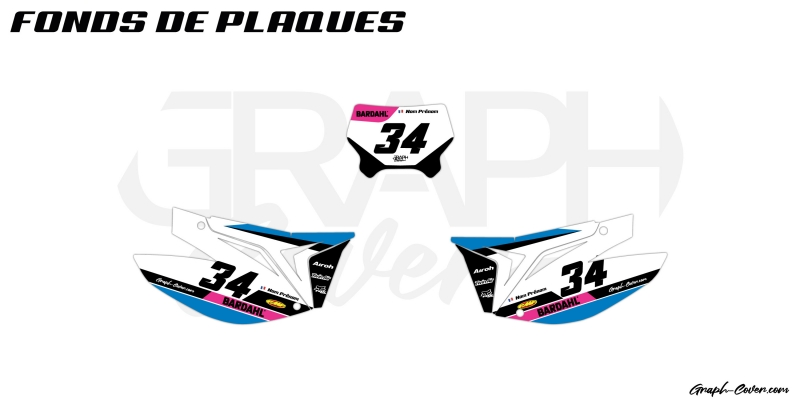 KIT DECO MOTO ENDURO TM EN 144 DANVERS BLEU ROSE