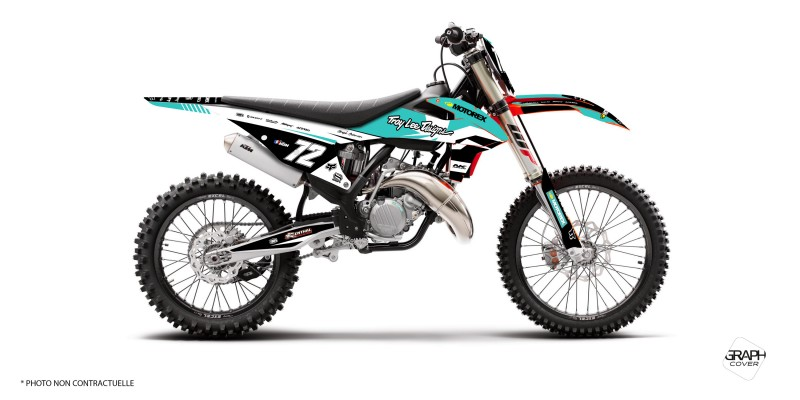 GRAPHIC KIT DIRT BIKE KTM SXF NYMO TURQUOISE light