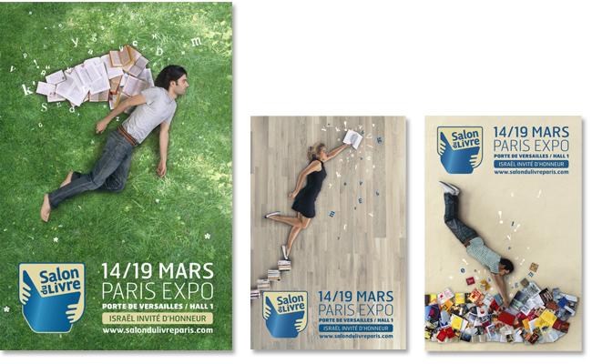 Conception des affiches du salon du livre de paris