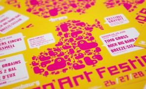 Affiche festival de musique rampart festif