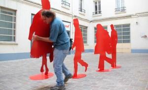 Personnages rouges Gérard Fromanger