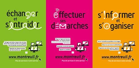 Conception d'une campagne de publicité pour le site web de la ville de Montreuil.fr