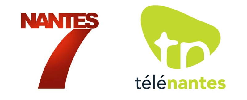 Les anciens logos de Télénantes et Nantes7
