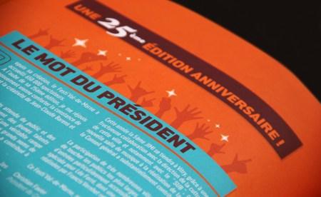 Mise en page d'une plaquette 36 pages Programme d'un événement culturel
