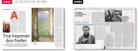 Design graphique magazine telerama presse