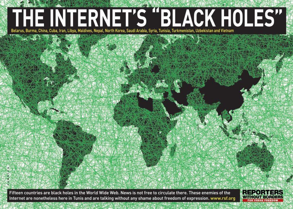 Carte de la censure sur internet