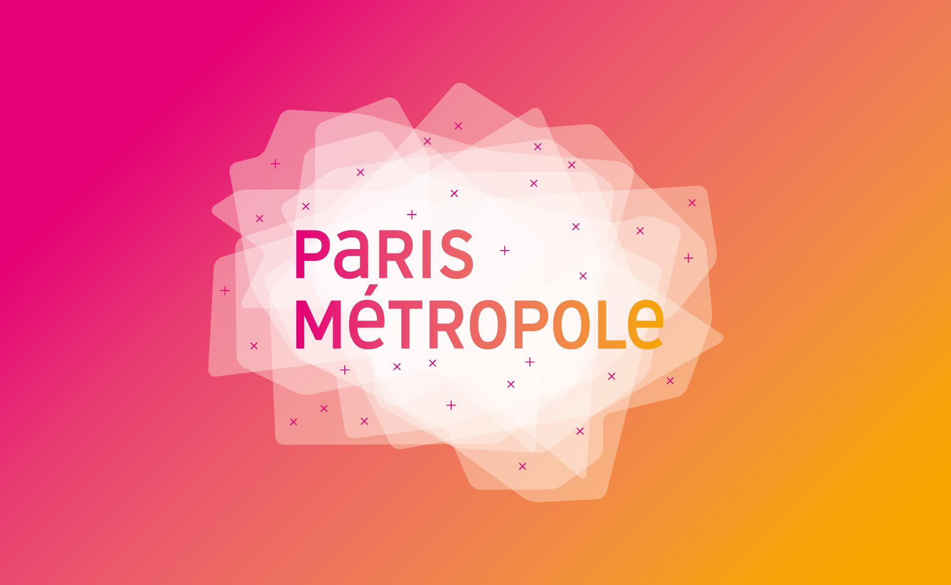 Paris métropole logo et typographie