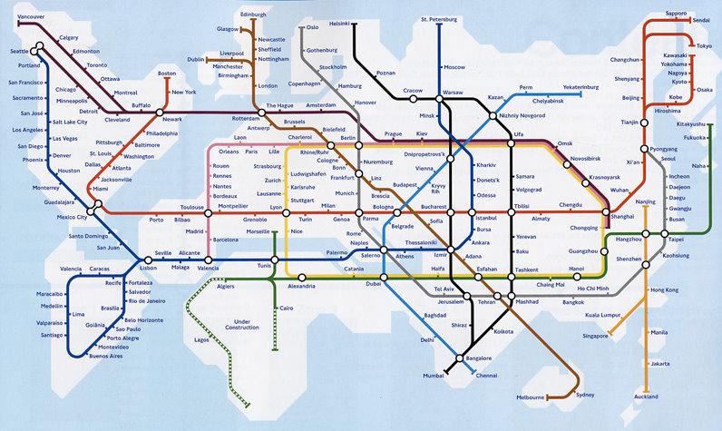 Carte des reseaux internets