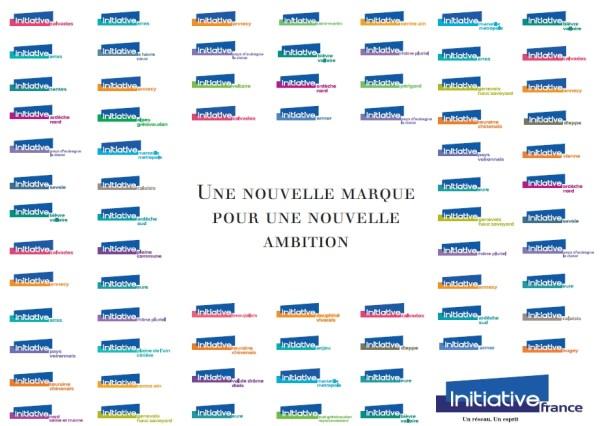 Les nouveaux logos des entités d'Initiative France