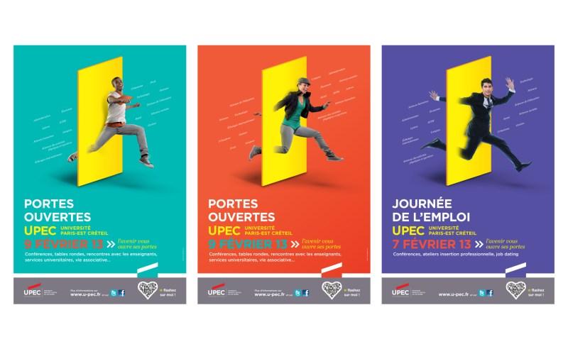 Création d'affiches pour les journée portes ouvertes université Paris Est Créteil Upec