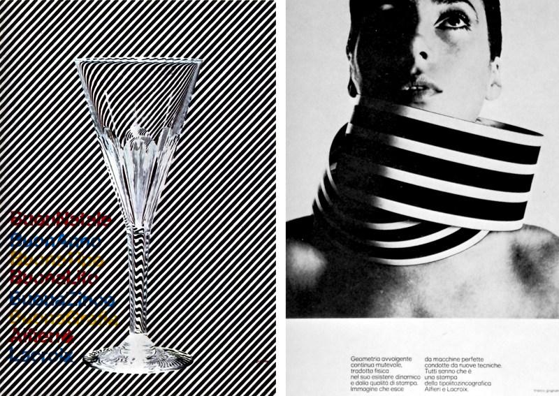 Les affiches publicitaires du graphiste italien Franco Grignani 1970's