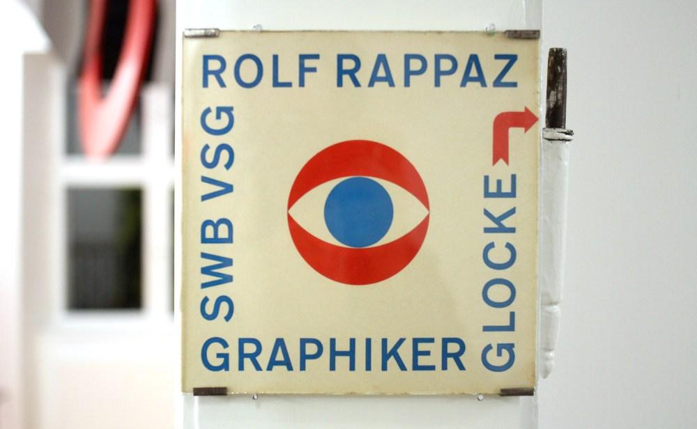 Le logo de l'atelier du graphiste suisse Rolf Rappaz