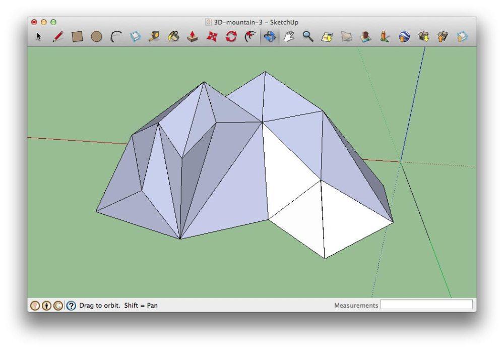 modelisation-montagne-3D-paper-art