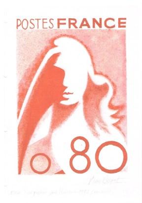 essai au pochoir pour marianne 1975 0.80 001