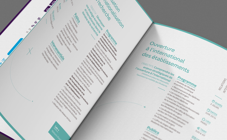 Mise en page du catalogue de formations Agence de mutualisation des Universités