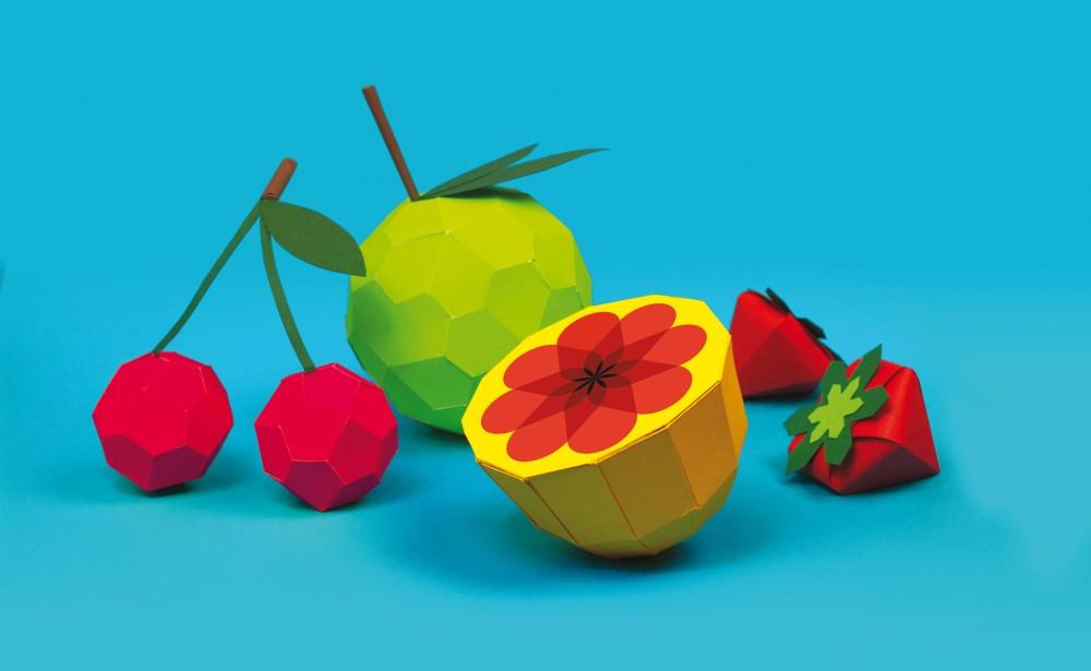 citron-cerises-pomme-fraises-fruits-papier