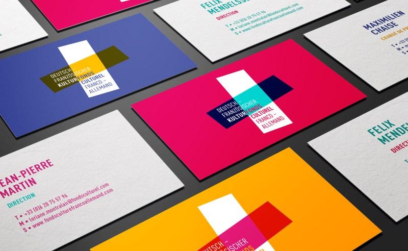 Cartes de visites Branding design
