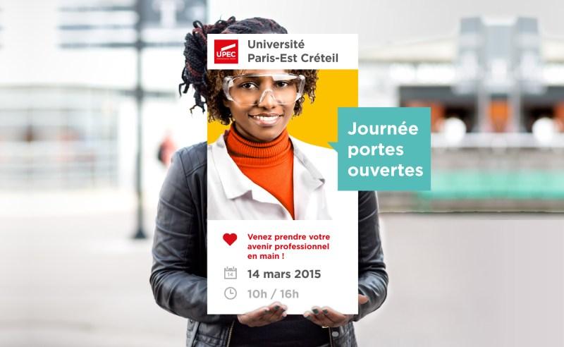Affiches des portes ouvertes de l'Université Paris Est-Créteil