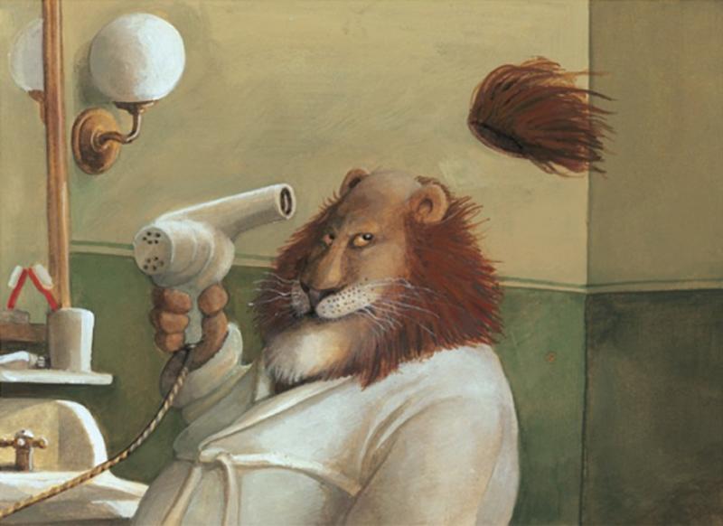 lion-chauve-seche-cheveux