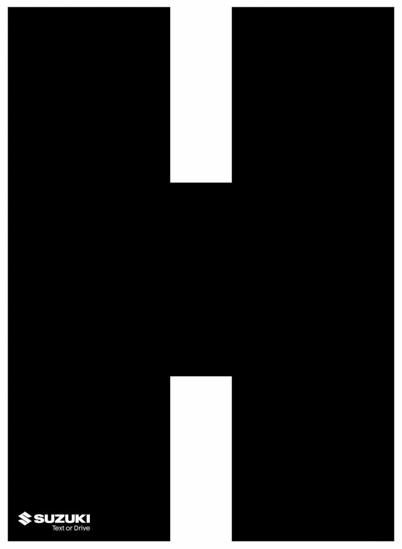 écrire ou conduire pub suzuki Typographie poster
