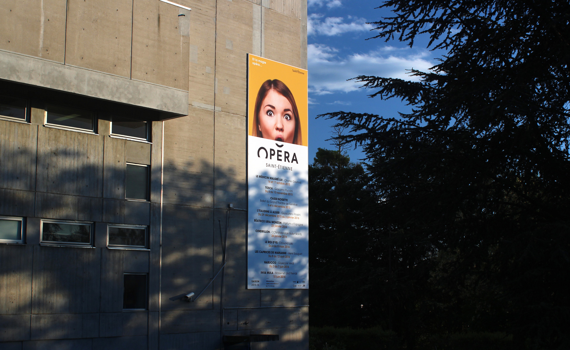 New branding of the saint Étienne opera house