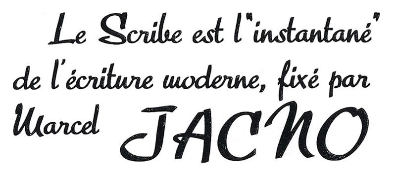 Marcel-Jacno-typographie-le-scribe-font