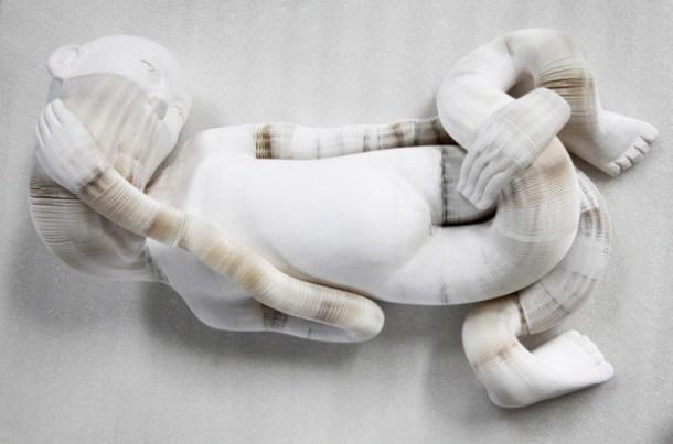 li-hongbo-sculpture-papier-enfant