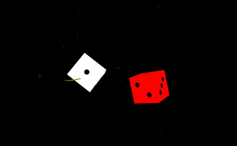 Lucky New Year! A throw of the dice will never abolish chance!