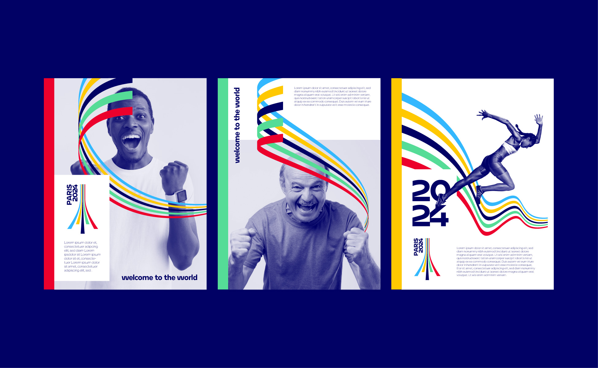 layout mise en page olympique paris 2024