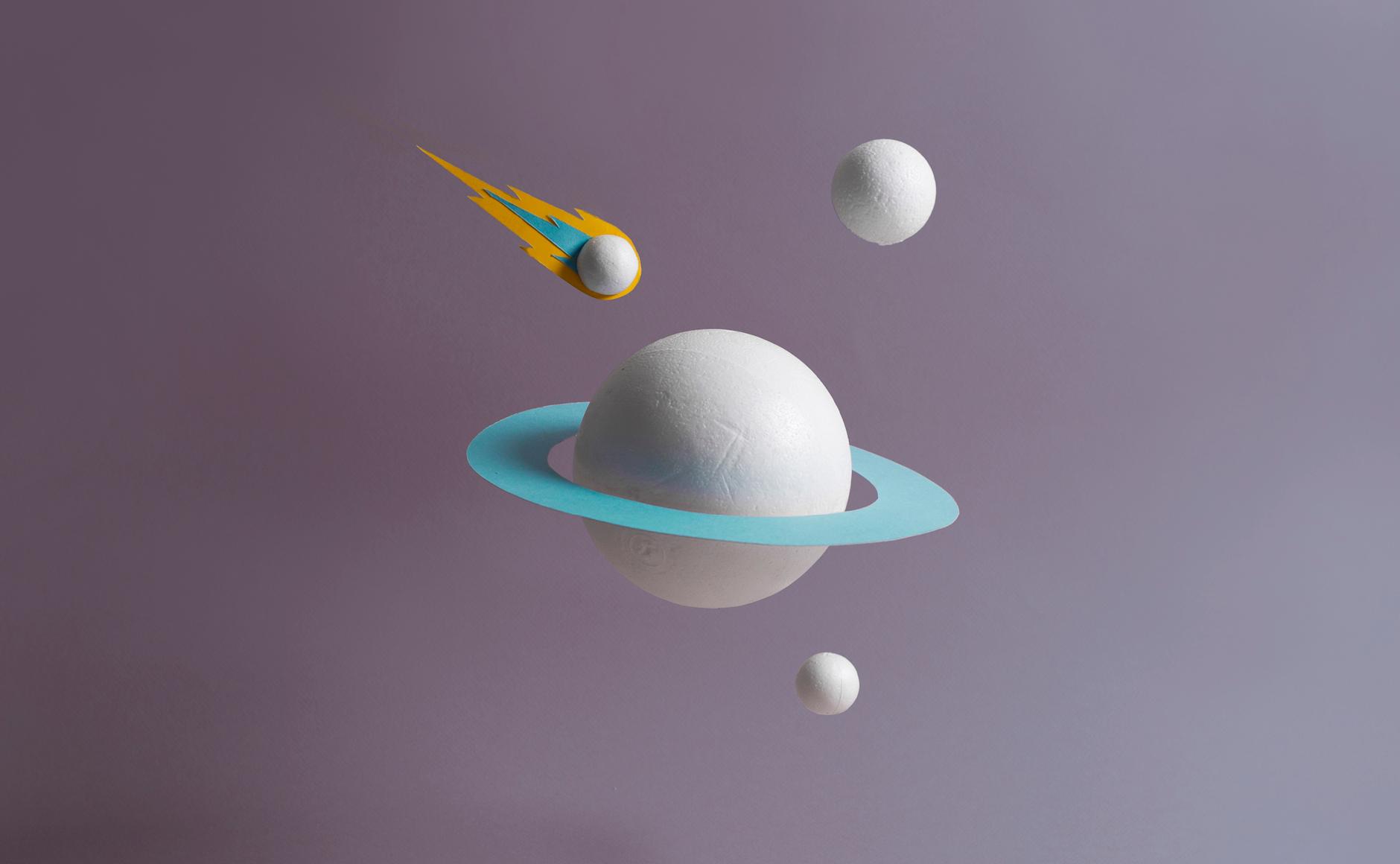 planetarium en papier planète