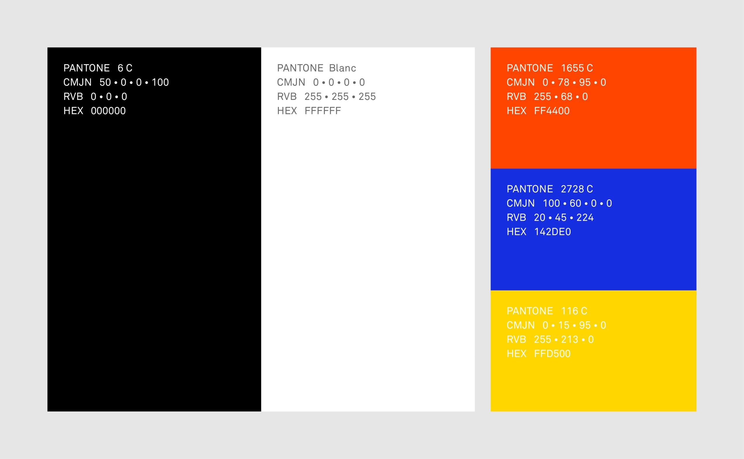 charte couleurs