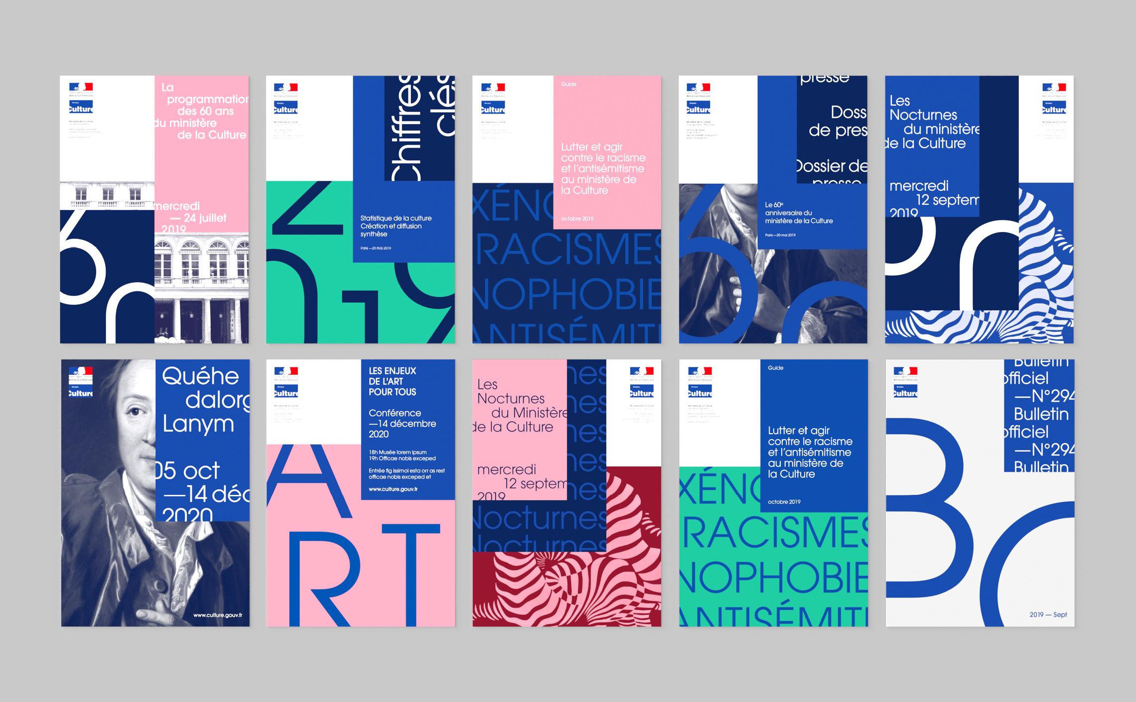Mise en page ministère de la culture layout design graphic