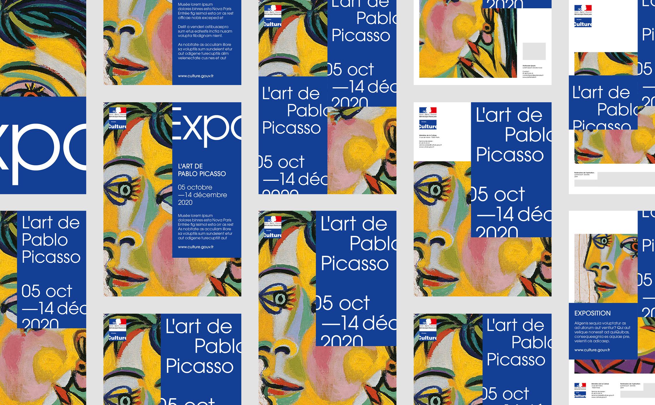 Poster design grid contemporary fine arts