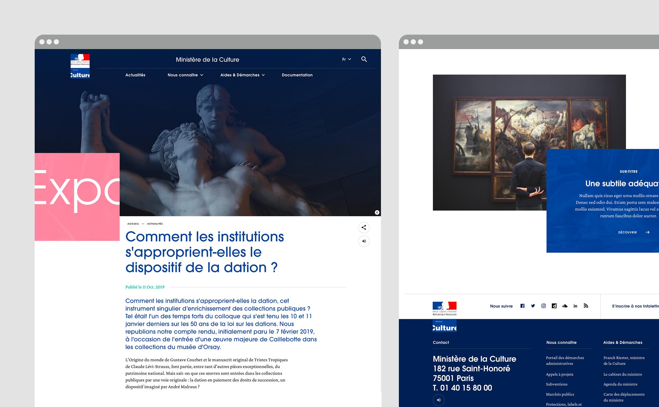 DA web webdesign layout design branding