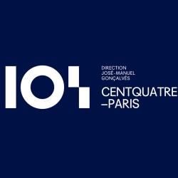 Identité visuelle lieu culturel 104 centquatre Paris